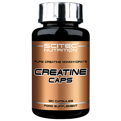 Creatine Caps 120 gélules Scitec Nutrition Force Volume Recuperation Musculation