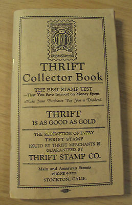 "VTG ca 1930's REDEMPTION Stamp Booklet~""THRIFT""~Stockton CA~Almost FULL~"
