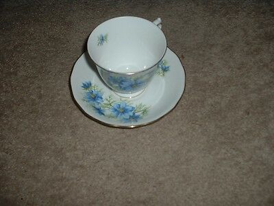 Vintage Queen Anne Bone China Tea Cup & Saucer  England stamped numbered