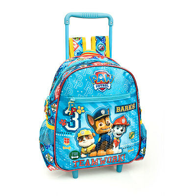 Paw Patrol Premium Blue Junior Wheeled Rucksack Backpack Kids Nursery School Bag