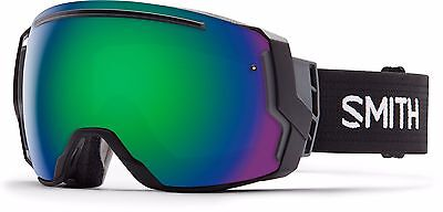 SMITH I/O 7 Interchangeable Snow Goggles - Black / Green Sol-X - w17