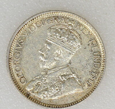1919 XF/AU COND CANADA SILVER 10c TEN CENTS.  NICE LUSTER - I-6643