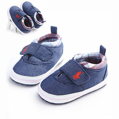 New Baby Boy Plaid Soft Sole Pram Shoes Trainers Size Newborn To 18 Months Retro