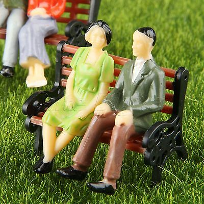 Model Seated People Figures Miniature Building Layou 1:100 Scale Painted 100pcs