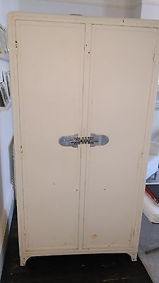 Very Rare Vintage French Metal Larder