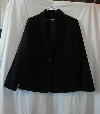 Terrific! Women's Black Duo Maternity Blazer Jacket, Sz Small