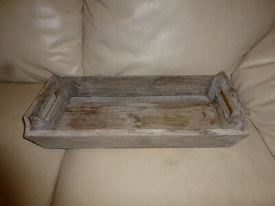 Vintage Old Wooden Utensil Tray Caddy  Box Tote