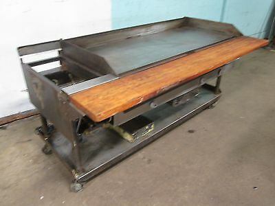 """VULCAN/HART"" H.D. COMMERCIAL 60""W NATURAL GAS GRIDDLE/FLAT-TOP GRILL w/STAND"
