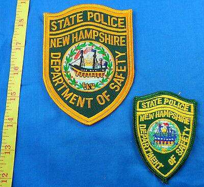 Vintage New Hampshire State Police Cloth Patch Lot Of 2 - Free Us Shipping
