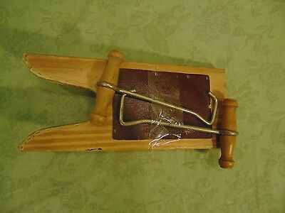 Vintage WOOD BOOT JACK Shoe Puller with Hand Pulls
