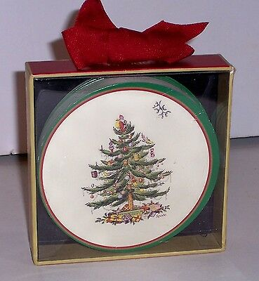 Box Set Of 12 Spode Christmas Tree Paper Coasters 4""