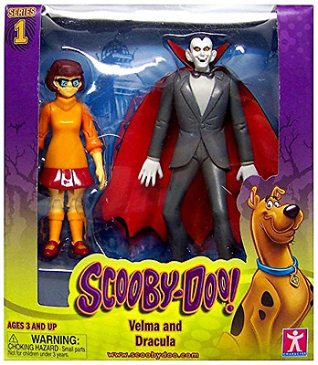 "Scooby Doo Velma and Dracula Action Figures 5"" Poseable"