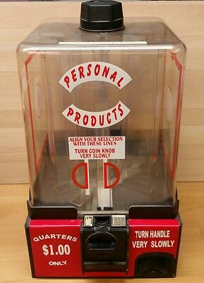 "Personal Products Vending Machine 18"" Tall x 11""  Vintage Condoms Medicines"