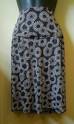 Motherhood Maternity Skirt S LN Over Belly Sparkle Black and White Silver