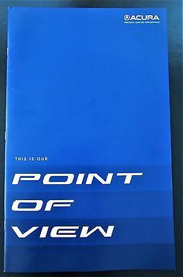 """NEW Acura """"Point of View"""" brochure: NSX (new & old) + MDX, RDX,RLX, TLX, ILX"""