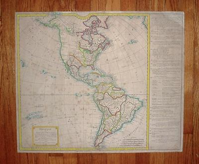 "1792 North & South America Delamarche Vaugondy Map 26"" by 22"""