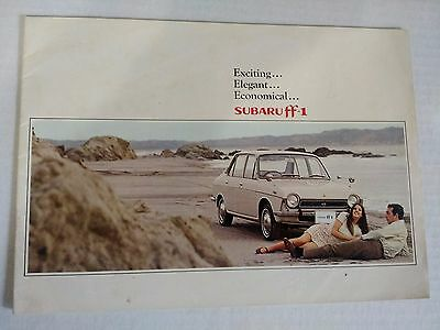 Original 1969 Subaru ff-1 Dealership Brochure