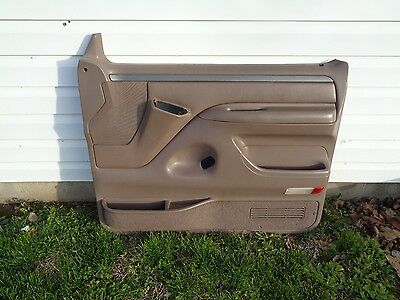 92 - 96 Ford F150 F250 F350 Bronco XLT Brown Tan Right Passenger Door Panel