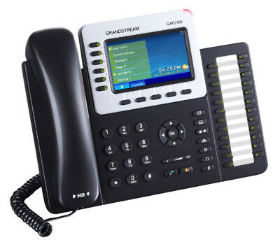 NEW. Grandstream GXP2160 - HD PoE IP Phone 480x272 Colour LCD, 6 lines, Dual GbE