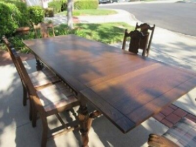 Antique Dining Room Table & Chairs