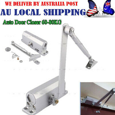 Convinent Auto Door Closer Fire Rated 60~80KG Suits Inward & Outward AU Ship AG