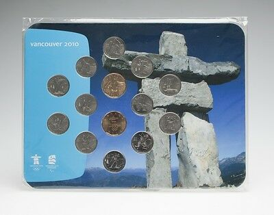 2010 Vancouver Olympic Winter Games RCM 14 Coin Set '10 Royal Canadian Mint