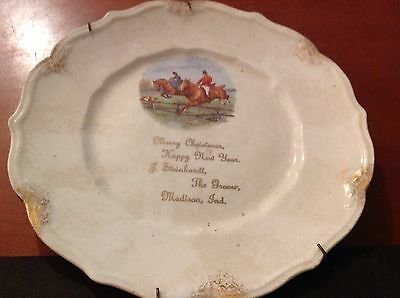 Madison, ind. Compliments of J. Steinhardt, Merry Christmas Happy New Year Plate