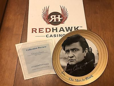 Johnny Cash - The Man In Black - Tribute to a Legend - Collector's Plate