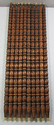 "Vintage Set of Ten (10) Staircase Chair Wood Baluster Spindles 27"" Long"