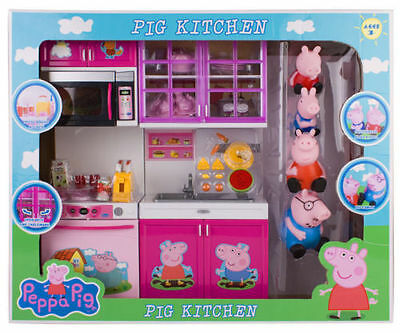 Peppa Pig Kitchen Set Toy With Action Figure For Kids Childr