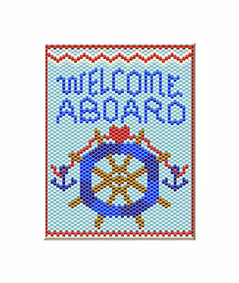 Welcome Aboard Nautical Pony Bead Banner Pdf Pattern Only
