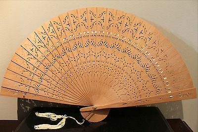 Collection of THREE Japanese Fans, Mid 20th Century, Hand Painted, Wood, Paper