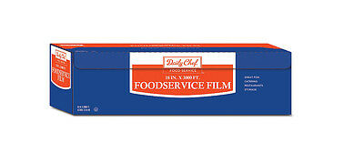 Daily Chef Food Service Film Saran Plastic Food Storage Wrap 18 in x 3000 ft New