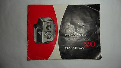vintage Brownie Reflex 20 instruction book booklet manual