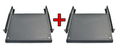 "2 PCS 19"" Rack Mount ADJUSTABLE Pull-Out Sliding Keyboard Mouse Shelf Tray"