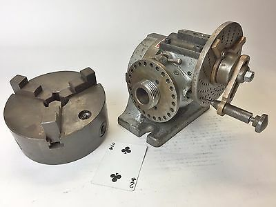 """ELLIS Inclining / Dividing head with 6"""" Skinner chuck USA"""