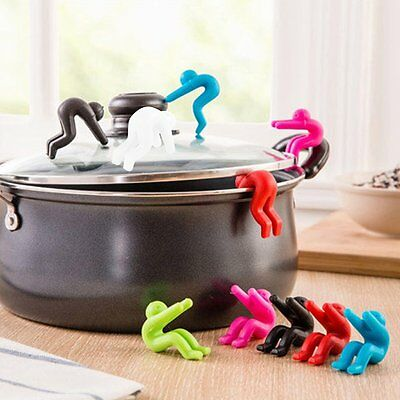 2 Pcs Silicone Spoon Rest Clip Kitchen Accessories And For Cellphone Holder OE