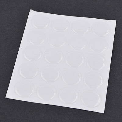 "1 Set Resin Clear Circles Stickers 1"" Round Epoxy Adhesive 3D Caps DIY Handcraft"