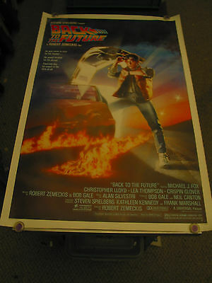 Back To The Future/orig. U.s. One Sheet Movie Poster (Michael J. Fox)