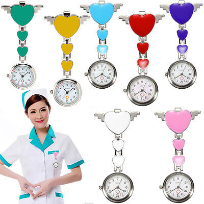 Montre Infirmier Medecin Quartz Pince Épingle Broche Attache Poche Acier Tunique