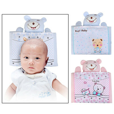 Newborn Baby Infant Head Pillow Prevent Flat Adjustable Anti Roll Sleep Position