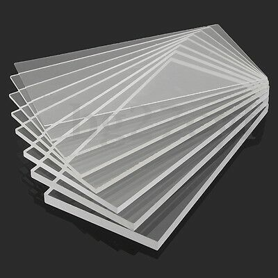 1-10mm 100x100-600mm  Acrylic Perspex Sheet Cut to Size Panel Plastic Satin Glos