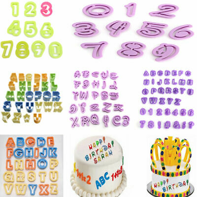 Alphabet Letter Number Cake Fondant Decor Cookie Cutter Molds Mould Birthday New