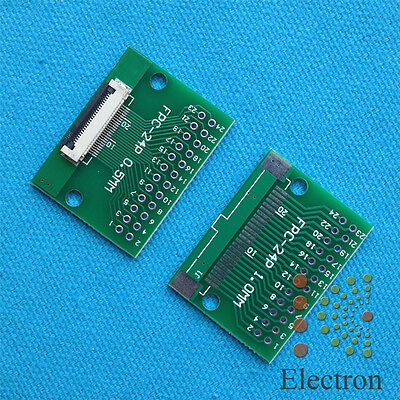 2pc 24P FFC FPC Adapter 0.5MM/1.0MM Pitch w/ 0.5mm cover to 2.54mm 24P connector