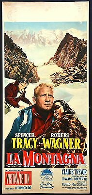 Manifesto Locandina Poster Cinema La Montagna Spencer Tracy Wagner Alpini Usa 13