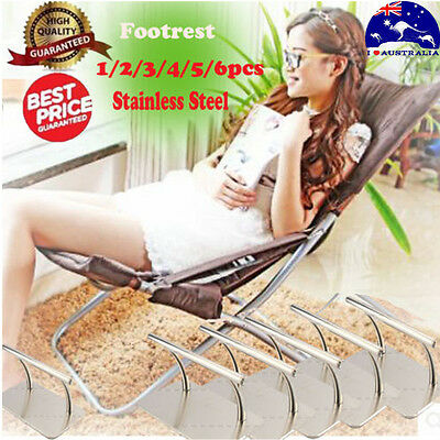 Stainless Steel Footrest Barbers Hair Chair Salon Equipmen Tattoo Hairdressing G