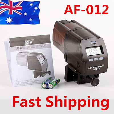 AU STOCK Digital Automatic Aquarium Fish Tank Pond Food Feeder Feeding Timer