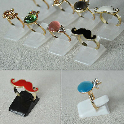 10Pcs Ring Show Plastic Jewelry Display Holder Stand
