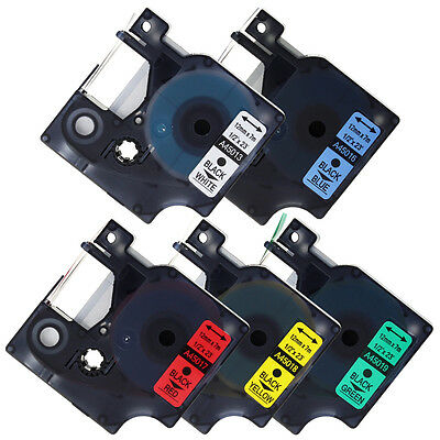 "Compatible for DYMO D1 Color Label 12mm Tapes LabelManager Printer 1/2"" x 23''"