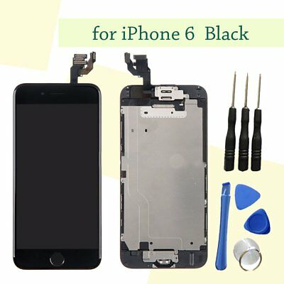 "Black For 4.7"" iPhone 6 LCD Touch Screen Digitizer Home Button Camera Assembly"